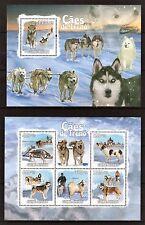 GUINE-BISSAU 2009 - CAES DE TRENO - RIDING DOGS - PETS - FAUNA M/S + S/S MNH** D