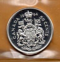 ICCS PL66 PL-66 1964 Canada Half Dollar Beautiful ULTRA HEAVY CAMEO Proof Like