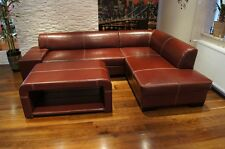 Echtleder Ecksofa + Couchtisch 100% Echtes Leder Möbel  Eckcouch Sofa Couch