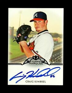 2011 Craig Kimbrel Topps Marquee RC Auto /570 Rookie White Sox Signed ON CARD SP