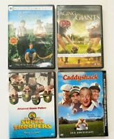 DVD Movies Lot of 4 Caddyshack Super Troopers Secondhand Lions Facing Giants