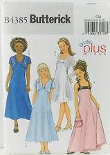 Butterick Pattern #B4385 Girls Dress A-Line w/Jacket Size (7-8-10-12-14) UCFF