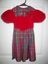 RUTH OF CAROLINA SIZE 4 RED SHORT SLEEVE TIE BACK DRESS