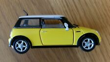 1:43 Diecast BMW Mini Cooper Model car Yellow with White Roof Perfect Condition