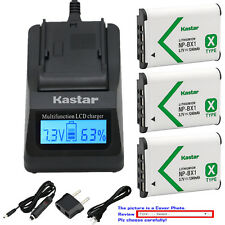 Kastar Battery Fast Charger for Sony NP-BX1 BC-CSX & Sony Cyber-shot DSC-WX350