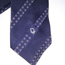 Christian Dior Cravates Mens Necktie Tie Navy Blue