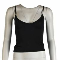 COLLETTE DINNIGAN Vest Top Black Stretch Size Small RWH 244