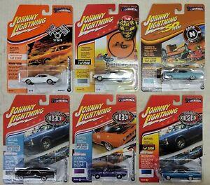 Johnny Lightning MUSCLE Cars USA, lot of 6, NIP (15A)