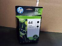 2020 HP 64 Black Twin Pack Ink Cartridge Genuine OEM Sealed