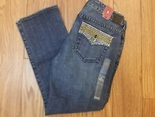 Express X2 Slim w10 Jeans Ankle Length Low Rise Embellished Women's Size 6 New
