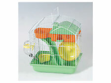 Small Hamster Mouse Cage with Nest House, Food & Drink Dispenser, Exercise Wheel