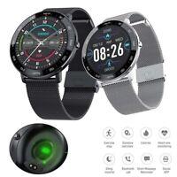 Stahl Smart Watch Bluetooth Smartwatch Herzfrequenzmesser für Samsung iPhone 11