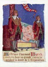 """""""BYRRH"""" Annonce originale entoilée  L'ILLUSTRATION  1937 Georges LEONNEC"""