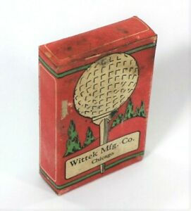 Vintage Circa 1920's Tip-Top Zinc Golf Tees Full Box of 18 Very Collectible
