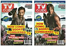 2015 TV Guide The Walking Dead Andrew Lincoln Norman Reedus Daryl Rick Cover Set