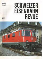 SCHWEIZER EISENBAHN REVUE 04-83 DER AUSBAU DER BLT-LINIE IM BIRSIGTAL / ZURICH