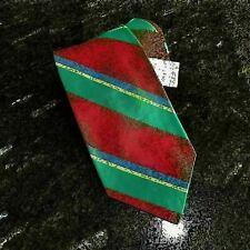Men's Polo by Ralph Lauren Neck Tie Red Green Blue NWT 100% Silk Handmade