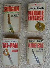 JAMES CLAVELL: Vintage Set of 4 Shogun Noble House Taipan King Rat PAPERBACK