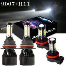 9007 LED Headlight Hi-Lo+H11 Fog Light Bulbs 6000K For Nissan Frontier 2005-2018