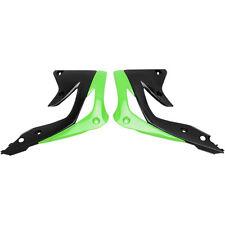 UFO CARENADO Fresco Verde-Negro Spoiler Del Tanque KAWASAKI KX 450F 12-15