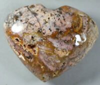 Natural Snowflake Cherry Blossom agate Crystal Gem Stone Heart Healing 303g