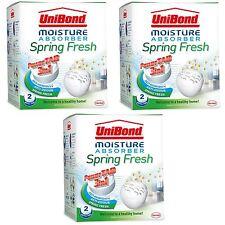 Unibond Moisture Absorber 6 Refills 3in1 Power Tabs Dehumidifier Spring Fresh