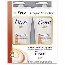 Dove Cream Oil Shea Butter Lotion 13.5 fl. oz., 2-Pack
