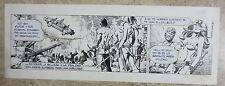 PAGINA TIRA ORIGINAL AXA DAILY STRIP ORIGINAL ART ENRIC BADIA ROMERO - 1677