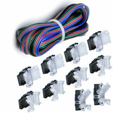 5M Extension Wire+4Pins Quick Connector for Waterproof 10mm RGB LED Strip Light