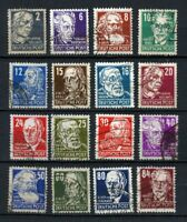Germany - Soviet Zone : Better Freimarken set from 1948 - used