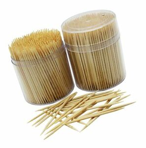 MontoPack Bamboo Wooden Toothpicks |1000-Piece Large Wood Round Toothpicks in...