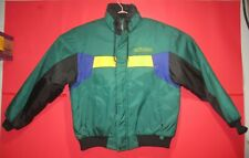 Vintage 1980's Ski Doo Bombardier Men's Coat Green Black Yellow & Purple Size L