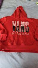 Vans Vintage Red 90s Medium Hoodie Warm Layers Long Sleeve