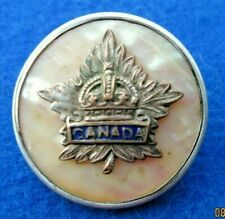 Canadian Armed Forces Sweetheart Badge WW2  Sterling Silver  Enamels and Mother