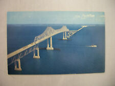 VINTAGE PHOTO POSTCARD THE SUNSHINE SKYWAY ACROSS TAMPA BAY IN FLORIDA UNUSED