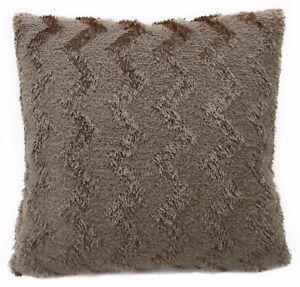 fd04a Khaki Soft Fleece Zig Zag Wave Cushion Cover/Pillow Case Custom Size