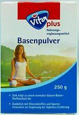 VitaPlus Basenpulver, Säure-Basen-Stoffwechsel, Zink, Mineralstoffe, je 250g