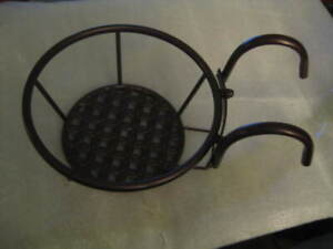Brand New Hanging Plant Stand Brown Flower Pot Rack Holder Outdoor Home Decor