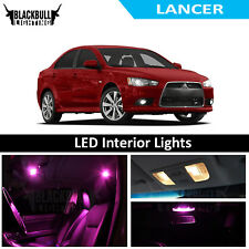 Pink LED Interior Lights Replacement Package Kit for 2007-2015 Lancer 6 bulbs