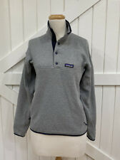 Patagonia Mens S Gray Blue Better Sweater Snap T Marsupial Zip Pocket Pullover
