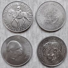 UK - Four Commemorative Crowns - 1965,1972,1977,1981 - Historically Significant