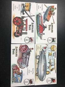 US 3638-41 Antique Toys Set Of 4 First Day Of Issue Collins Hand Painted Covers