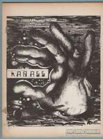 KARASS sf fanzine MIKE GILBERT sword & sorcery ROBERT E GILBERT science 1971