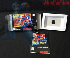Mega Man 7 VII SNES Super Nintendo High Quality Custom Box + Manual + Tray Only