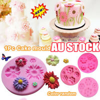 3D Daisy Flowers Shape Fondant Mold Silicone Cake Chocolate Decorating Mould EA