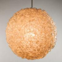 Pendel Leuchte Kunststoff Kugel Hänge Lampe Vintage Pendant Lamp 70er Jahre