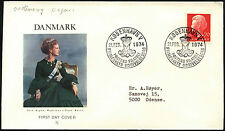 Denmark 1974, 70ore Queen Margrethe FDC First Day Cover #C40910