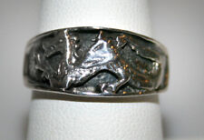 Sterling Silver DRAGON Ring Size 9  10mm wide 5gr  T2 #84