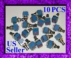 3PDT x 10 PUSHBUTTON SWITCH  DIY TRUE BYPASS GUITAR EFFECTS PEDAL  HARD CLICK