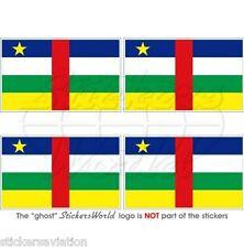 "REPUBBLICA CENTRO AFRICANA Bandiera Africa Adesivi 50mm (2"") Stickers, x4"